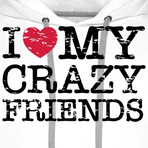 I Heart My Crazy Friends T-shirts - Premiumluvtröja herr