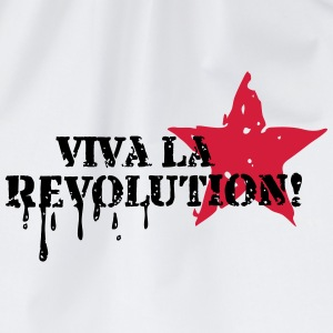 Viva la Revolution, Star, Grunge, Anarchy, Punk,   T-Shirts - Drawstring Bag