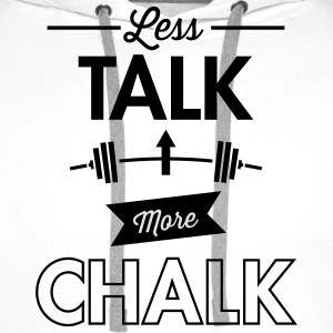 Less Talk More Chalk T-skjorter - Premium hettegenser for menn