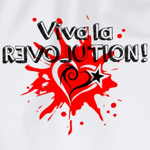 Viva la REVOLUTION, LOVE, Star, Heart, Splash,  Magliette - Sacca sportiva