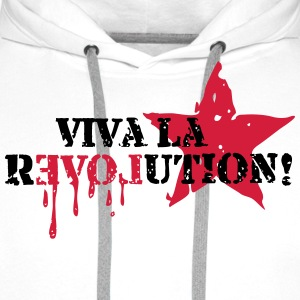 Viva la REVOLUTION, LOVE, Star, Anarchy, Punk T-shirts - Premiumluvtröja herr