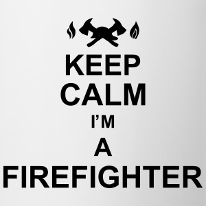 keep_calm_I'm_a_firefighter_g1 Camisetas - Taza