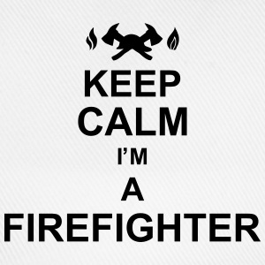 keep_calm_I'm_a_firefighter_g1 Camisetas - Gorra béisbol