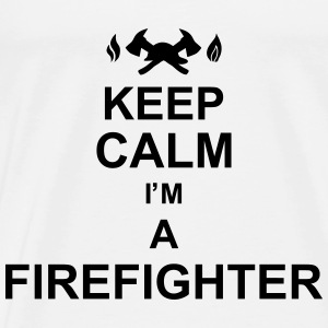 keep_calm_I'm_a_firefighter_g1 Sweatshirts - Herre premium T-shirt