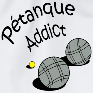 Petanque addict vecto Bottles & Mugs - Drawstring Bag
