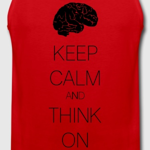 keep calm and think on Magliette - Canotta premium da uomo