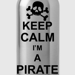 keep_calm_I'm_a_pirate_g1 Camisetas - Cantimplora