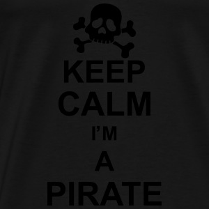 keep_calm_I'm_a_pirate_g1 Langarmshirts - Männer Premium T-Shirt