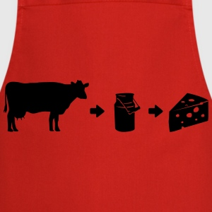 Evolution Milk Cheese Shirt T-Shirts - Cooking Apron