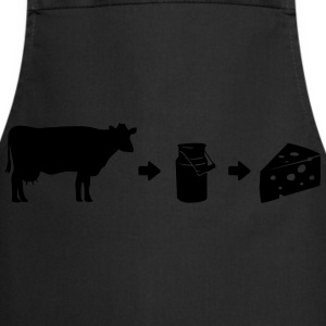 Cheese-shirt Évolution de lait Tee shirts - Tablier de cuisine