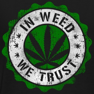 In Weed We Trust stamp b Sweat-shirts - T-shirt Premium Homme