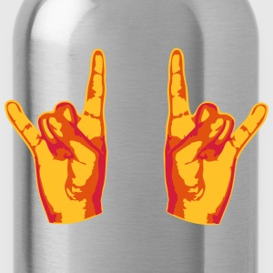 2 Cool Metal Hand Finger T-Shirts - Water Bottle