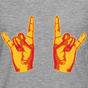 2 Cool Metal Hand Finger T-Shirts - Men's Premium Longsleeve Shirt