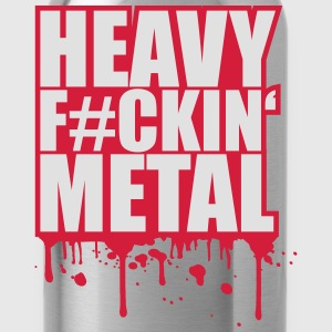 Heavy Fuckin Metal Graffiti Stamp T-Shirts - Water Bottle