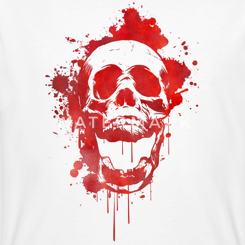 Blood splatter skull / Death Skull T-Shirts - Men's Organic T-shirt