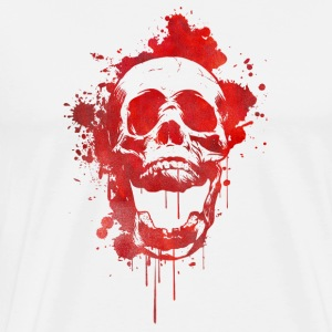 Blood splatter skull / Death Skull Long Sleeve Shirts - Men's Premium T-Shirt