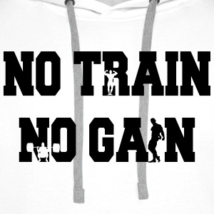 No train no gain Hoodies - Men's Premium Hoodie