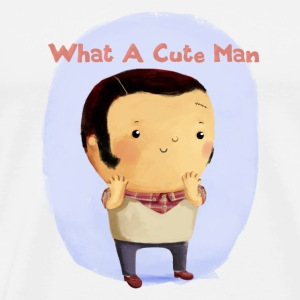 Cute Man. version 2 Buttons - Men's Premium T-Shirt