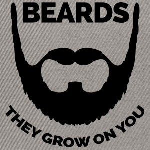 Beards Grow On You Hoodies & Sweatshirts - Snapback Cap