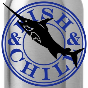 fish & chill (c, 1c) T-Shirts - Water Bottle