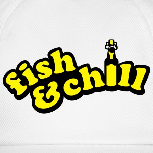 fish & chill (a, 2c) T-Shirts - Baseballkappe