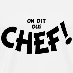 On dit oui chef mono Sweaters - Mannen Premium T-shirt