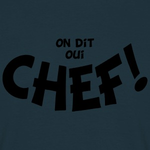 On dit oui chef mono Forklæder - Herre-T-shirt