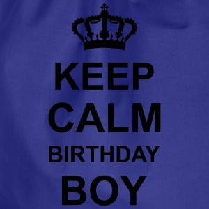 keep_calm_birthday_boy_g1 Shirts - Drawstring Bag