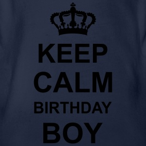 keep_calm_birthday_boy_g1 Skjorter - Økologisk kortermet baby-body
