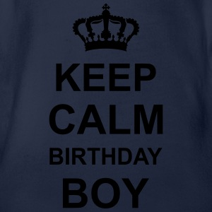 keep_calm_birthday_boy_g1 Shirts - Baby bio-rompertje met korte mouwen