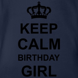 keep_calm_birthday_girl_g1 Shirts - Baby bio-rompertje met korte mouwen