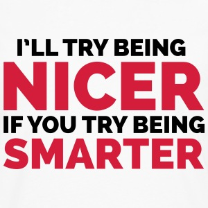Try Being Smarter  T-shirts - Herre premium T-shirt med lange ærmer