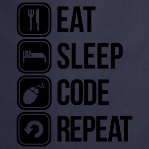 eat sleep code T-Shirts - Cooking Apron