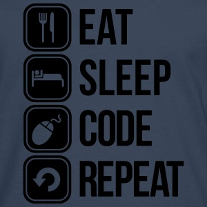 eat sleep code T-Shirts - Men's Premium Longsleeve Shirt