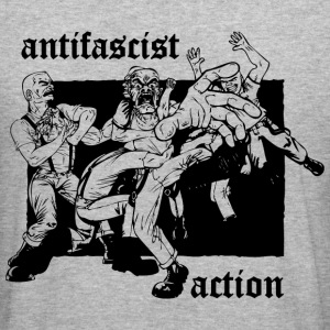 Antifascist Action Hoodie - Männer Slim Fit T-Shirt