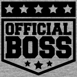 Officiel Boss Design T-shirts - Herre premium T-shirt med lange ærmer