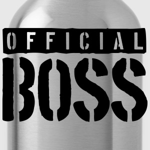 Logo Design Officiell Boss T-shirts - Vattenflaska