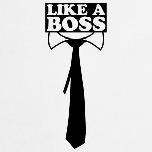 Like A Boss Tie Design T-Shirts - Cooking Apron