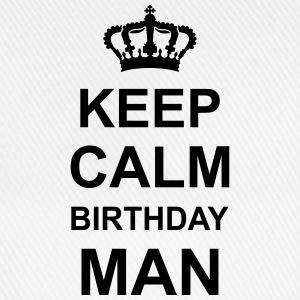 keep_calm_birthday_man_g1 Magliette - Cappello con visiera