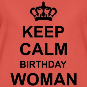 keep_calm_birthday_woman_g1 Top - Maglietta Premium da donna