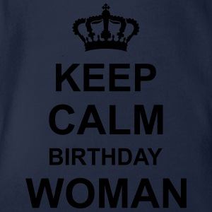 keep_calm_birthday_woman_g1 Skjorter - Økologisk kortermet baby-body