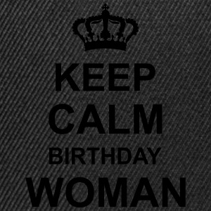 keep_calm_birthday_woman_g1 Top - Snapback Cap