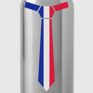 Flag tie Ireland, Striped tie, necktie, long tie - Water Bottle