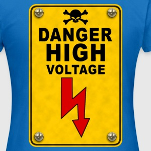 danger high voltage Sweat-shirts - T-shirt Femme
