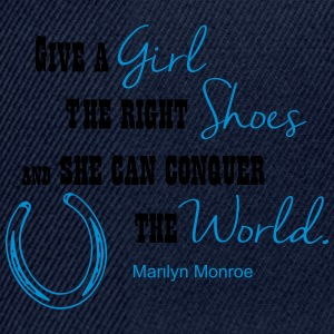 Cowgirl -- right Shoes (Marilyn Monroe)  T-Shirts - Snapback Cap