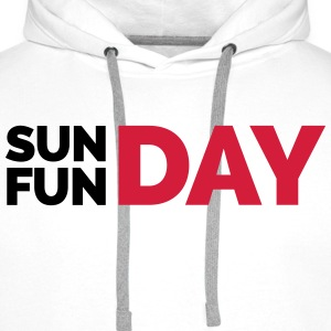 Sunday Funday  T-Shirts - Men's Premium Hoodie
