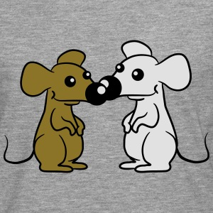 2 Small Cute pair of mice T-Shirts - Men's Premium Longsleeve Shirt