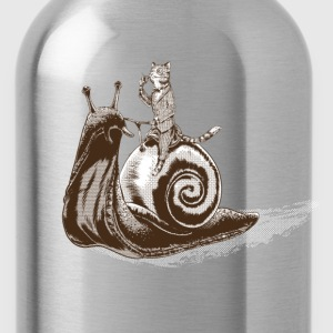 Cat Snail Rider Sepia T-Shirts - Trinkflasche