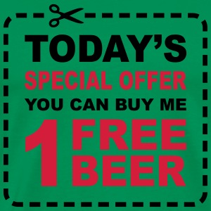 Free Beer - Special Offer Coupon  Aprons - Men's Premium T-Shirt