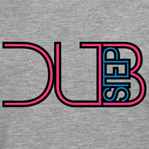 Dubstep Party DJ textlogo T-shirts - Långärmad premium-T-shirt herr